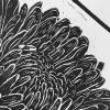 Chrysanthenum Lino Print Detail 1