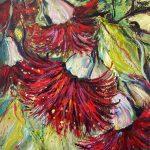 Dancing gumnut flowers