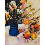Sunlit Freesia and Strewn Pears