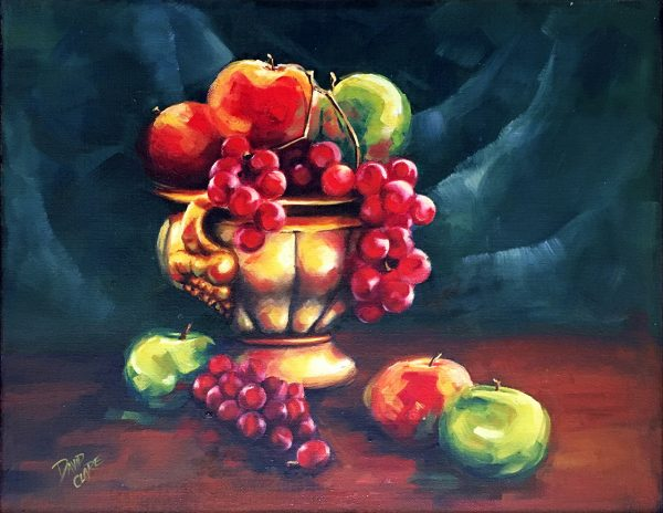 Gold Fruit Bowl Lr