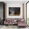 Ivona Radic Time After Time 122x92 Abstract Landscape Insitu Living Room