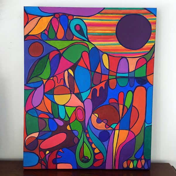 Kaleiodoscope Of Summer Shana Danon Vibrant Abstract