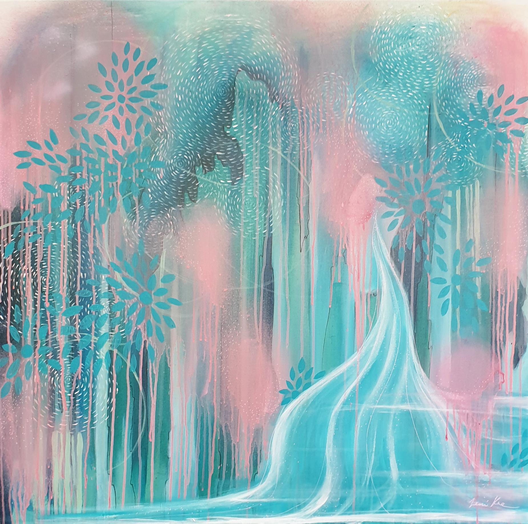 Leni Kae Icecream Sundae Waterfall Abstract Landscape Sale