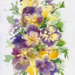 Pansies – Framed