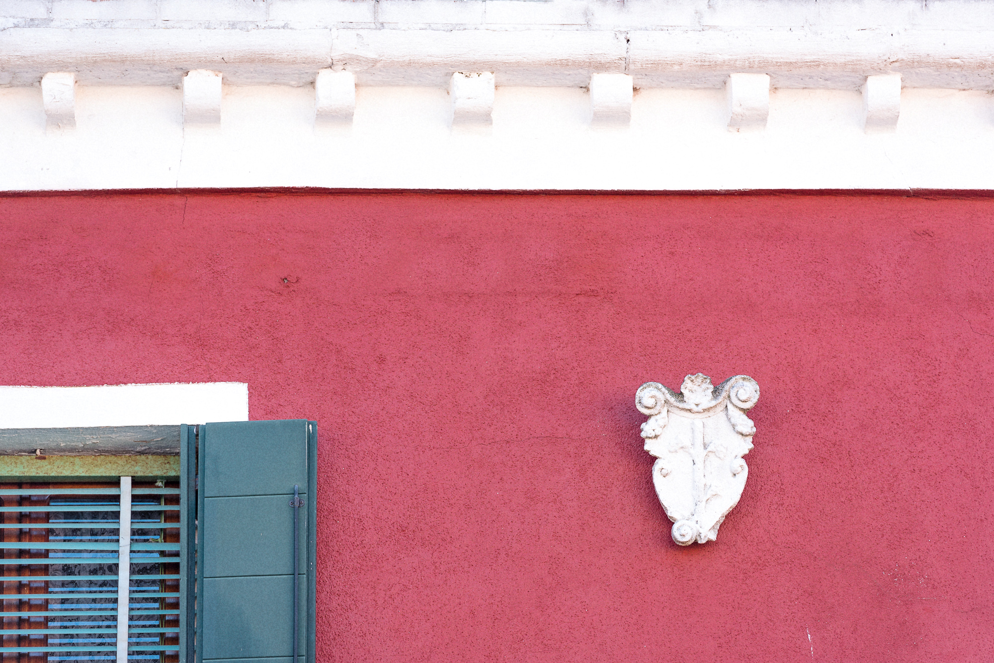 Red Burano Wall Detail