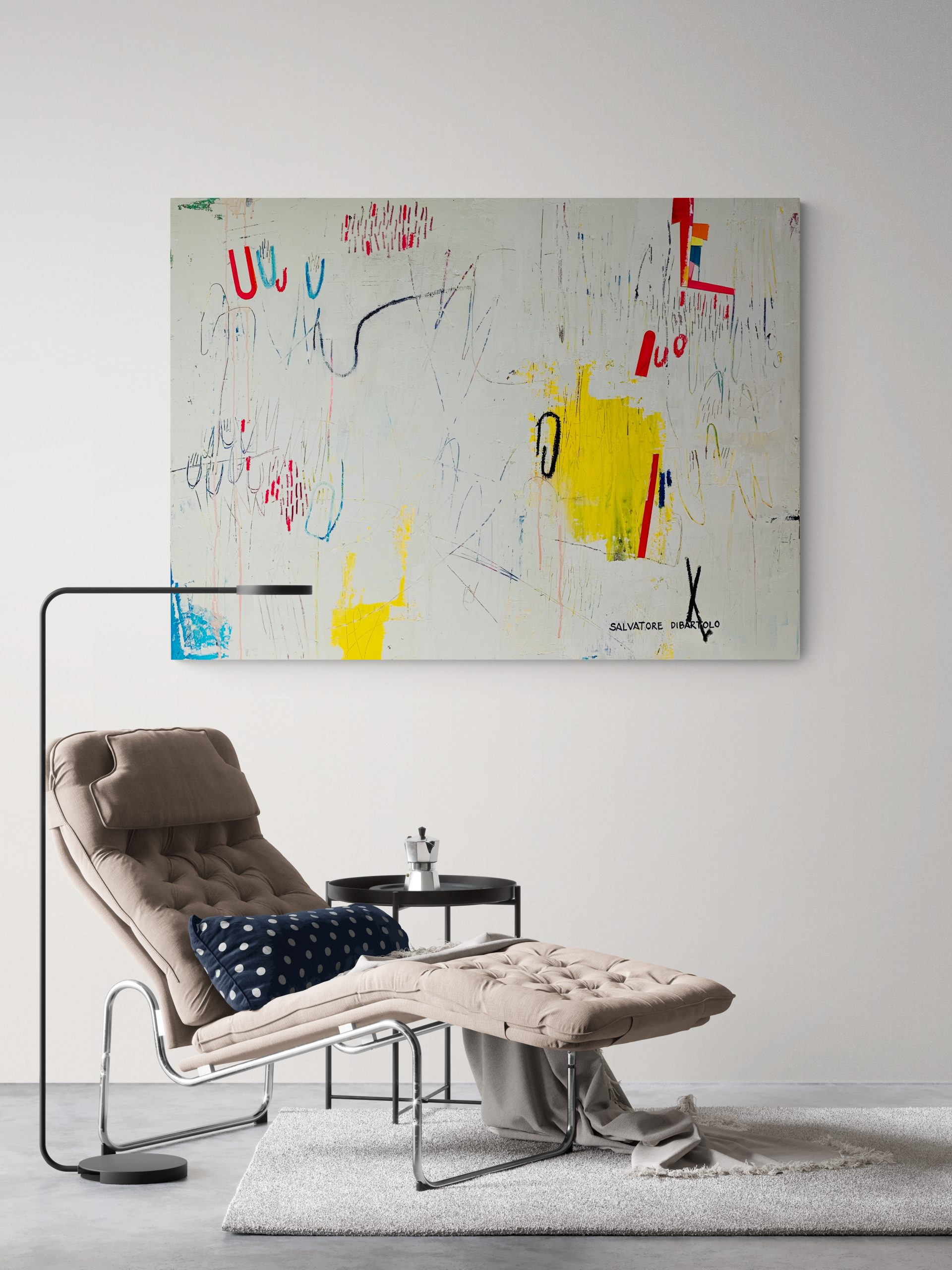 Stylish Sitting Room With Chaise Lounger And Lamp 2