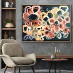Vanilla Mocha – Abstract Flowers