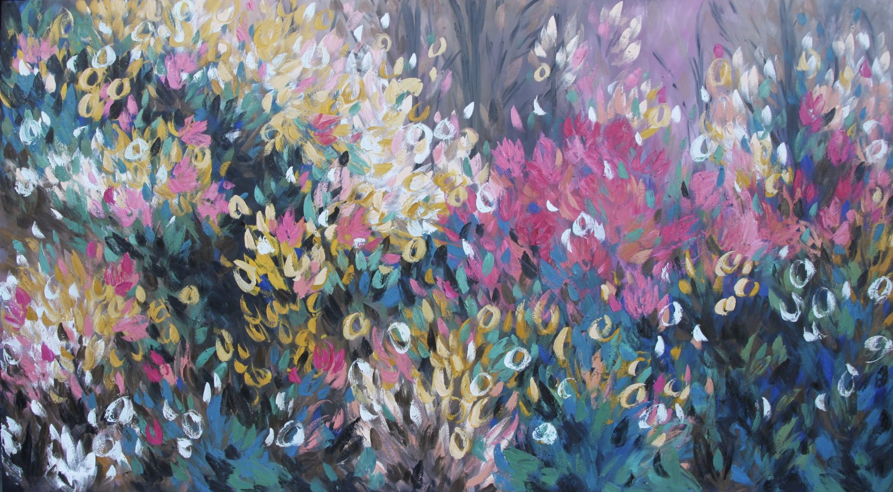Belinda Nadwie Art Abstract Painting Wildflower 1800x991