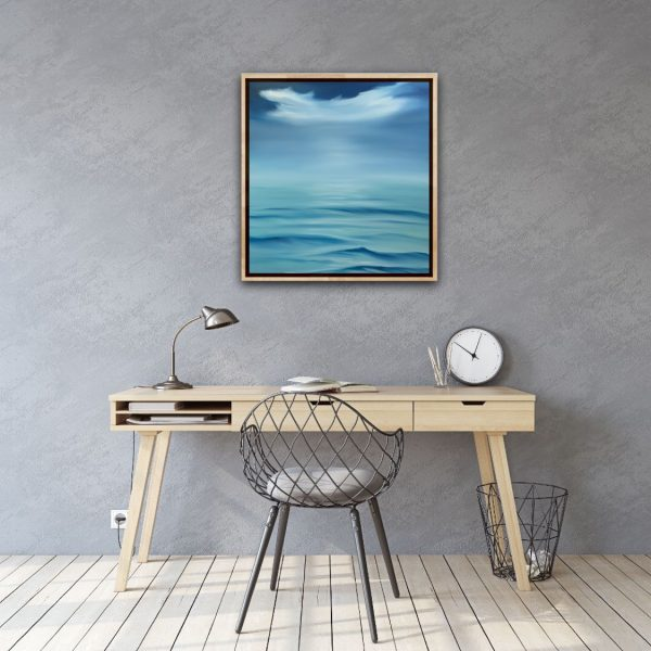 Home Office Art Alanah Jarvis Ocean Painting Framed Whispering Waves
