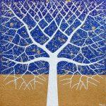 Tree – beach horizon textured abstract