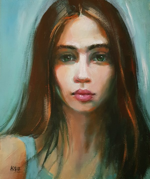 260x210 Oil On Canvas Portrait Of A Young Girl Sm
