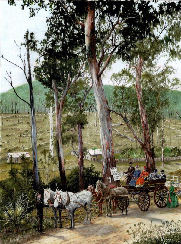 357 Returning Home New Warburton, Victoria 1890 1892