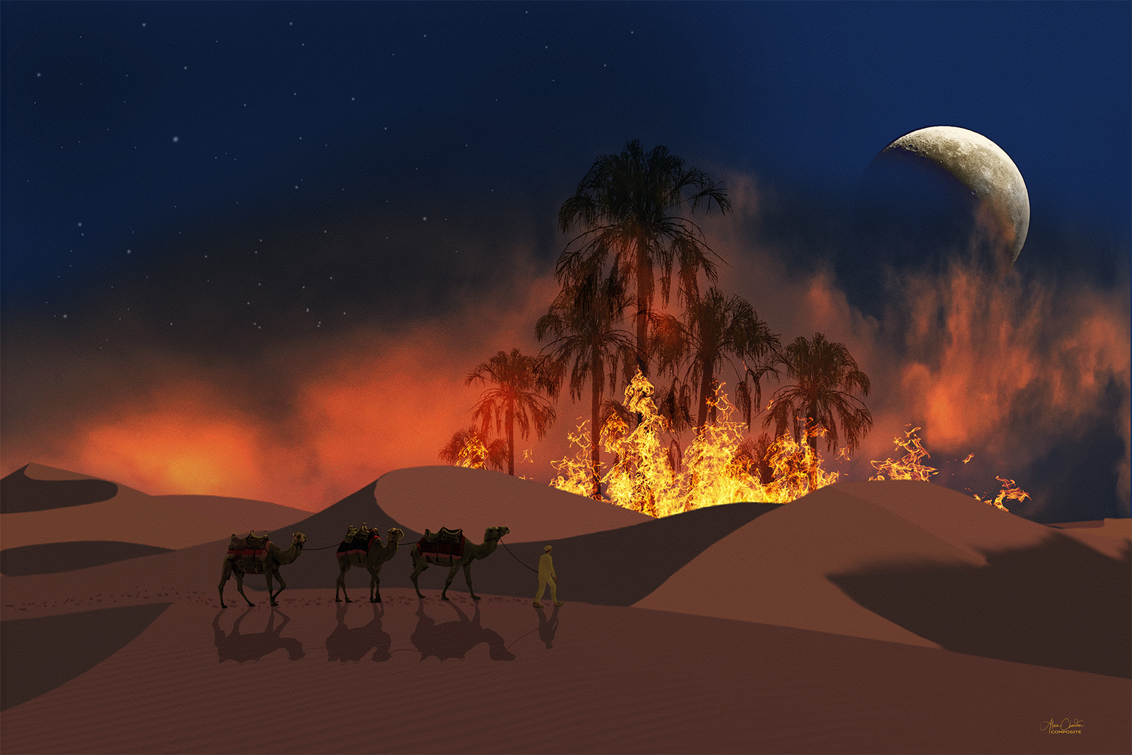 75 Fire In The Desert 24 Layers