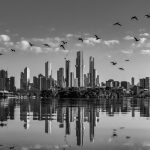 Skyline Reflections – Black and White