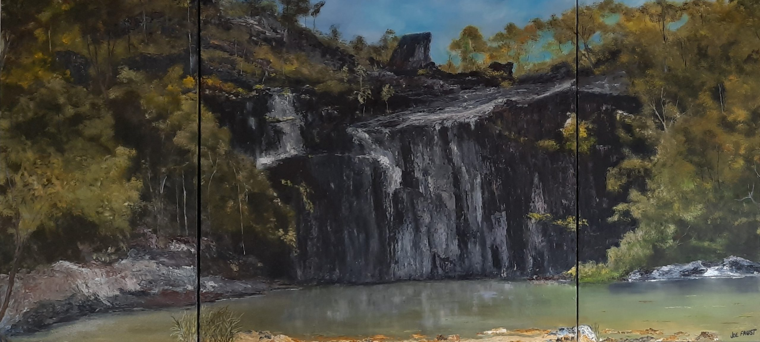 Cedar Creek Falls In The Middle Of A Dry Spell' Triptych 4