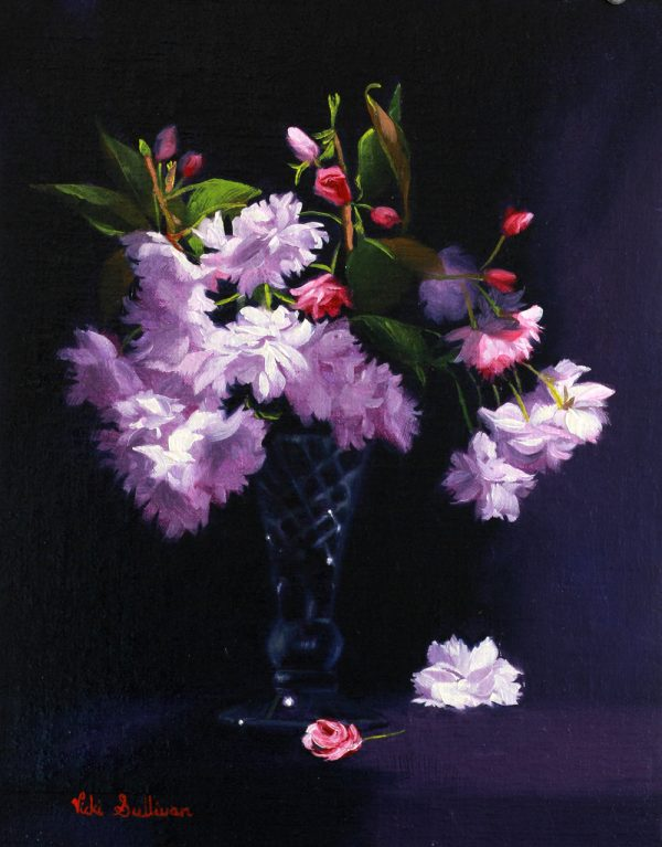 Cherry Blossom Study By Vicki Sullivan Art Lovers Australia Oil On Linen H 35cm X W 28cm