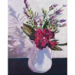 Lavender and white Jug