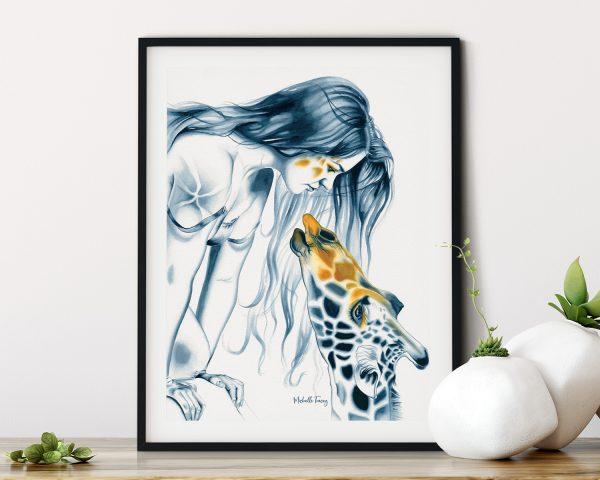 Giraffe Painting Giraffe Totem By Michelle Tracey