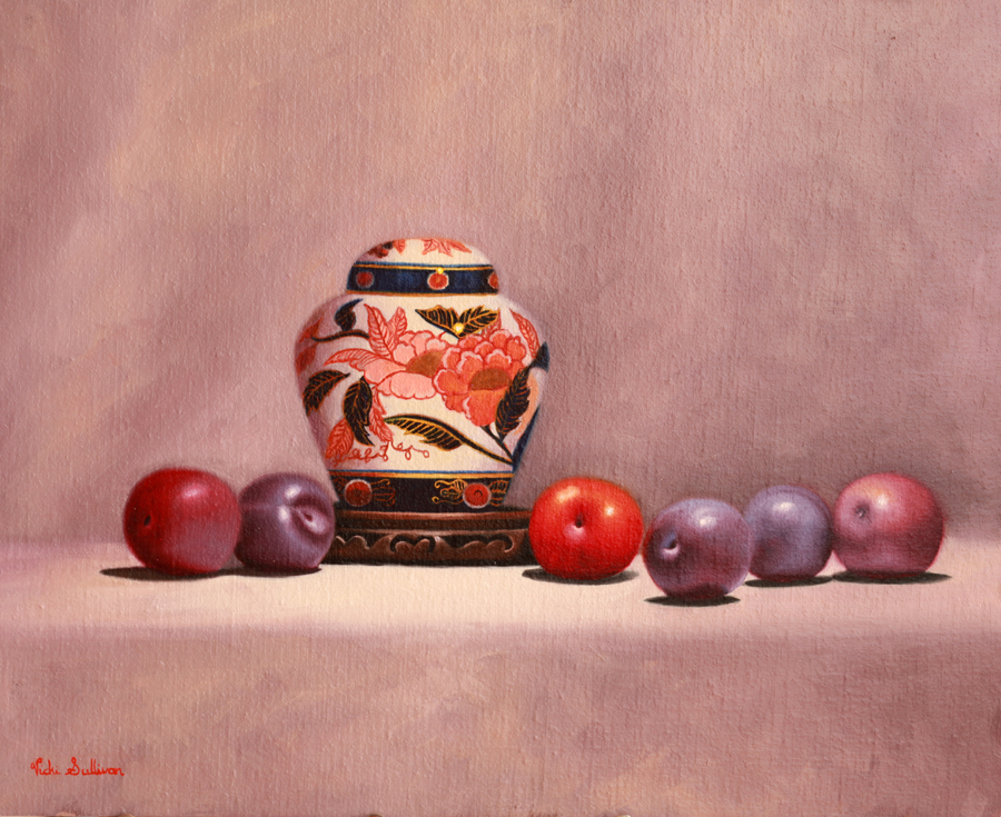 Imari Ginger Jar With Plums 40x50cm