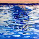 Night Pool Reflections