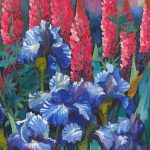 Iris and Lupins by Gillian Murray Ltd Edition 1/100