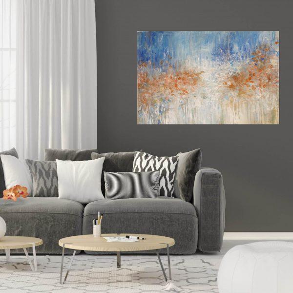 Orange Blossom Drk Wall Grey Lounge Flr Rm