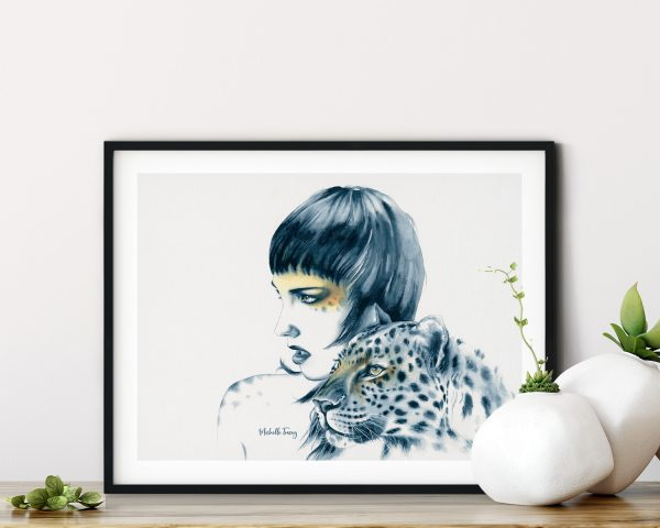 Original Leopard Totem Artwork By Michelle Tracey