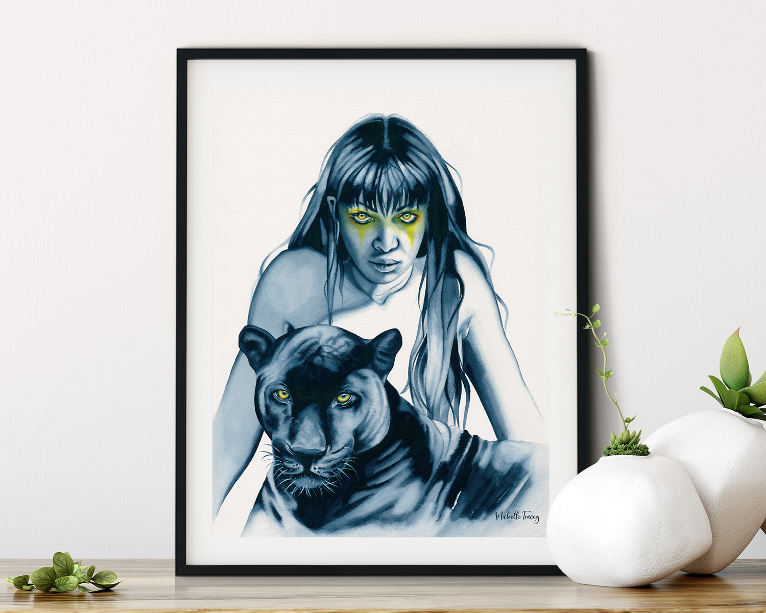Panther Totem Artwork By Michelle Tracey
