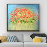Poppy Buzz – Poppies – Flowers – Large 122x102cm