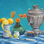 Samovar Tea with Lemons – Ltd Ed Canvas Print