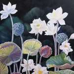 Lotus Lilies – Original Oil