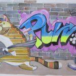 Graffiti Cat No 2