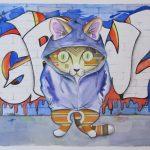 Graffiti Cat No 3