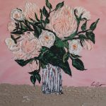 Soft pink proteas and white roses No. 4