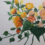 Wild roses in spring
