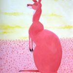 Kangaroo in Desert