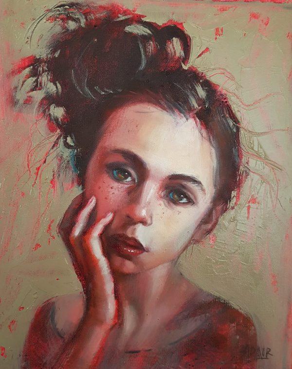 25x20 Oil On Canvas Lipstick Sm