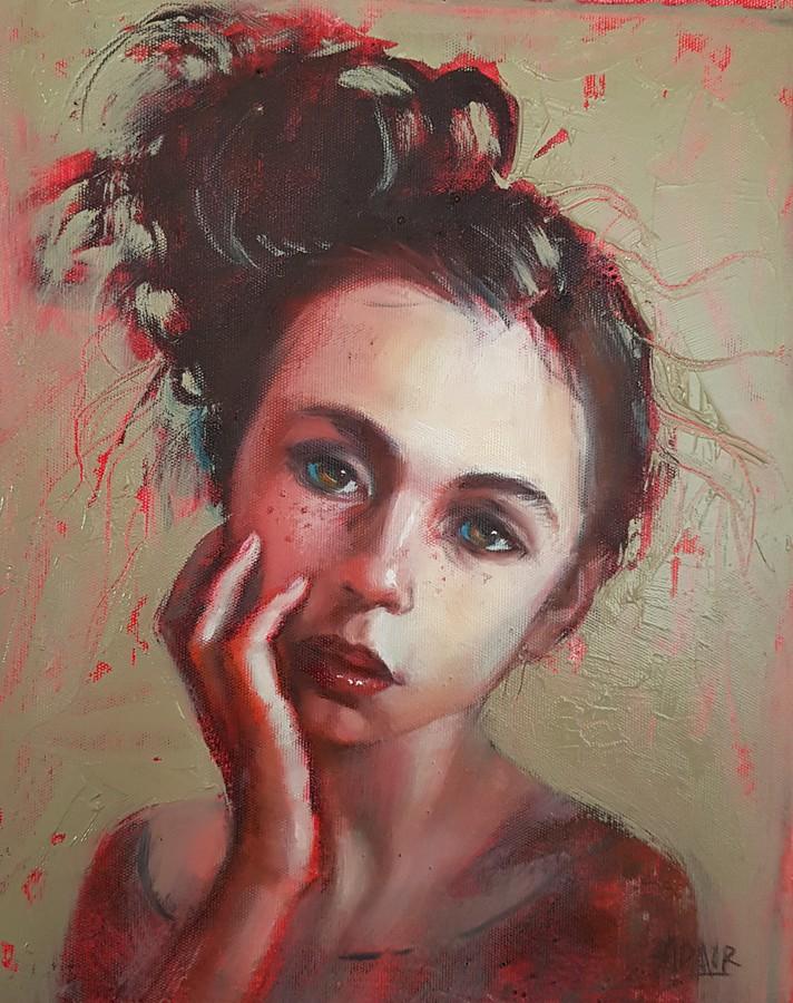 25×20 Oil On Canvas Lipstick Sm