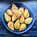 Pears in a Blue Bows