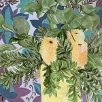 Banksia Barkcloth and the Polka Dots