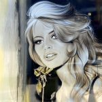 Rose d'or Bardot – Original Painting of Brigitte Bardot