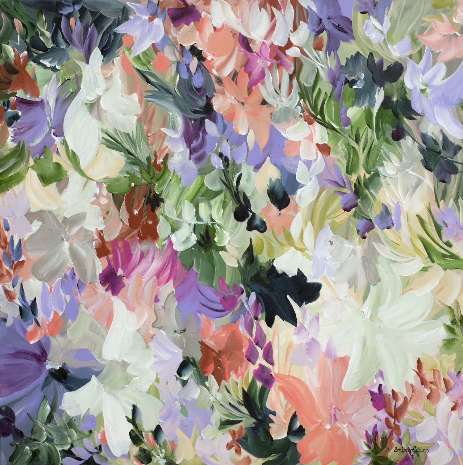 Floral Obsession Floral Abstract Painting