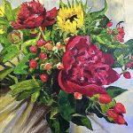Sunflowers and Peonies