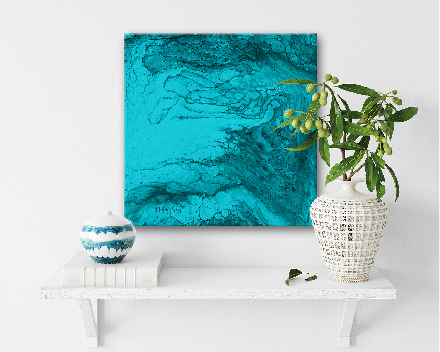 Ocean Abstract Painting Oceans Purifying Breath By Michelle Tracey