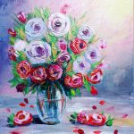 Roses in a vase No 1