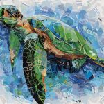Blue Water Sea Turtle – Ltd Ed Print