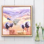 Sunset Fields – Framed in Tasmanian oak