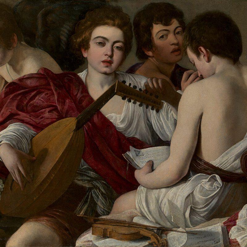 Template E Caravaggio Themusicians1597