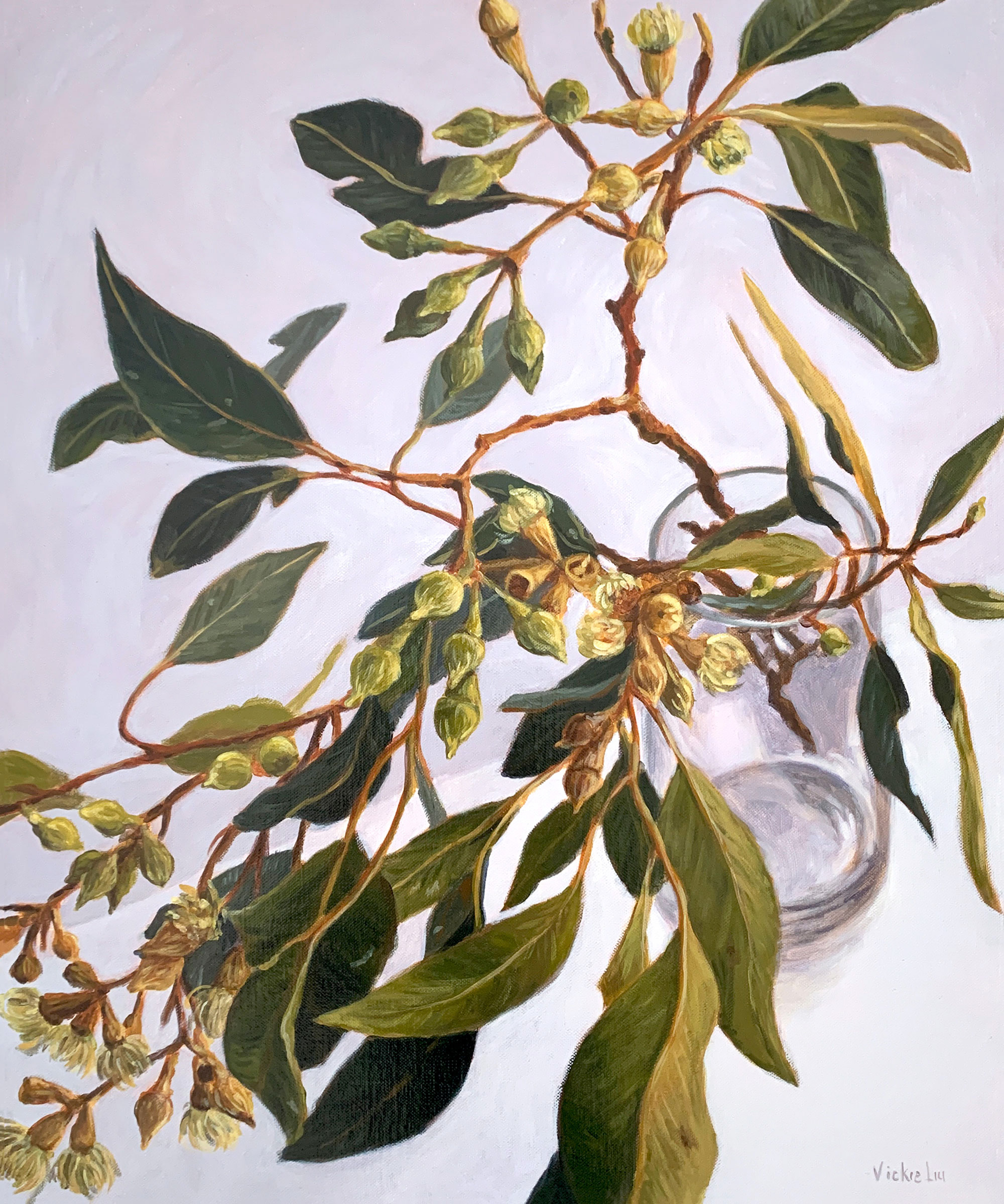 Vickie Liu Lush Gum Leaves 50×60