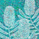 Flowers – Banksias,  textured abstract – SOLD